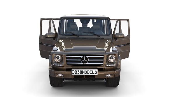 Mercedes Benz G Class with interior Brown - 3DOcean Item for Sale