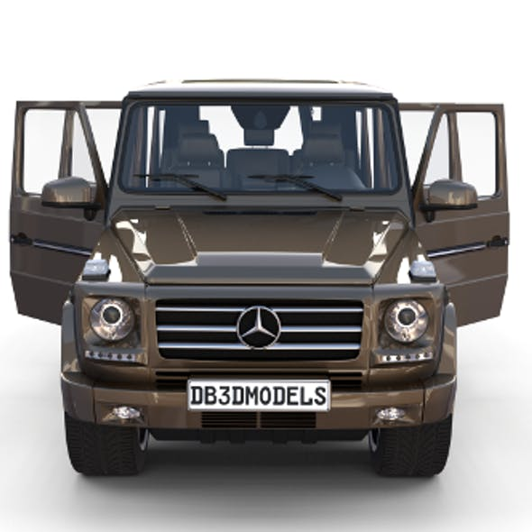 Mercedes Benz G Class with interior Brown