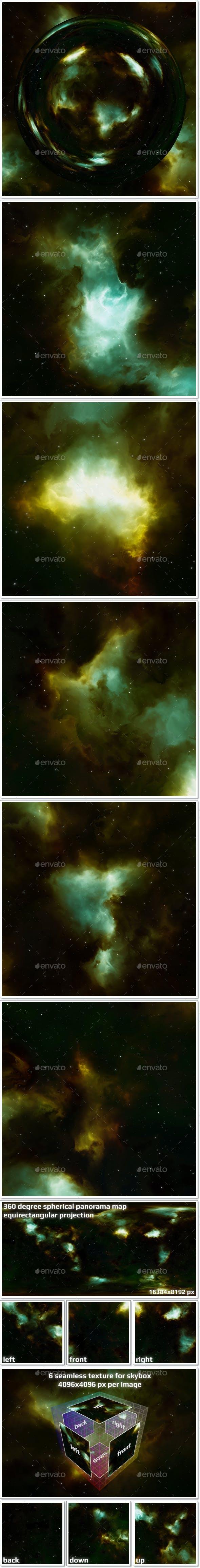 Nebula Space Environment HDRI Map 020 - 3DOcean Item for Sale