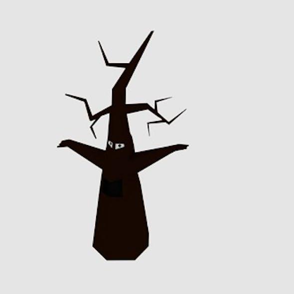 Cartoon Dead Tree Monster
