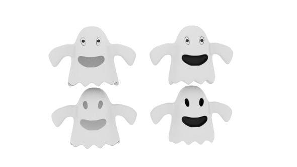 Cartoon Fabric Ghost - 3DOcean Item for Sale