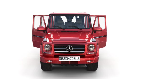 Mercedes Benz G Class with interior Red - 3DOcean Item for Sale