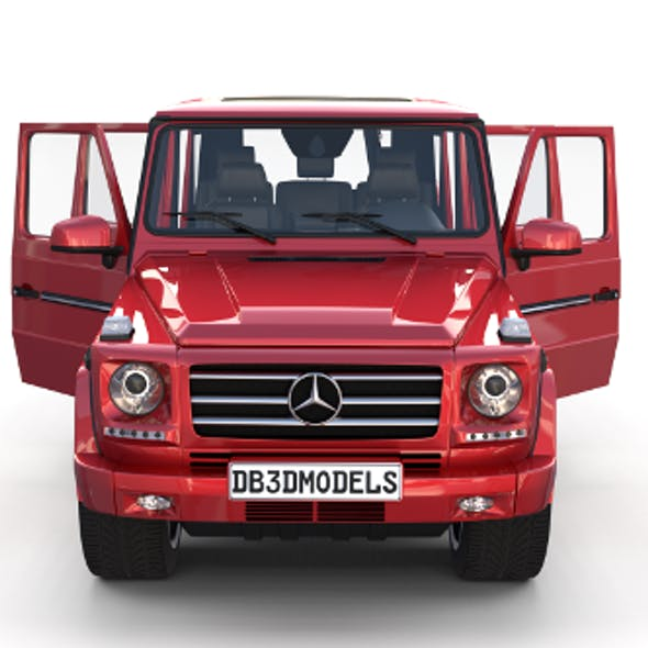 Mercedes Benz G Class with interior Red