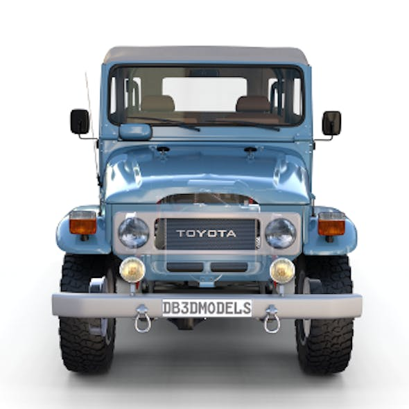 Toyota Land Cruiser FJ 40 Soft Top with Interior and Chassis