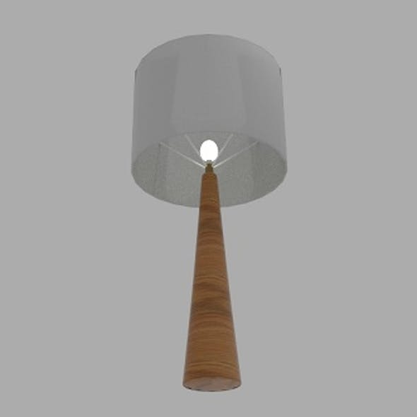 Oak Conical Table Lamp