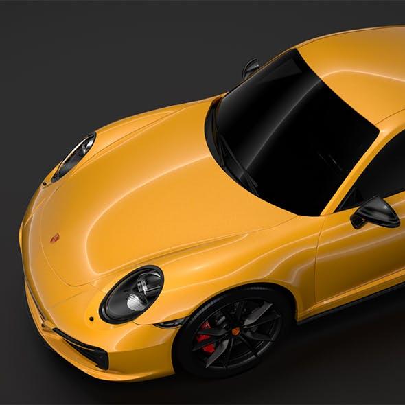 Porsche 911 Carrera T Coupe (991) 2018 - 3DOcean Item for Sale