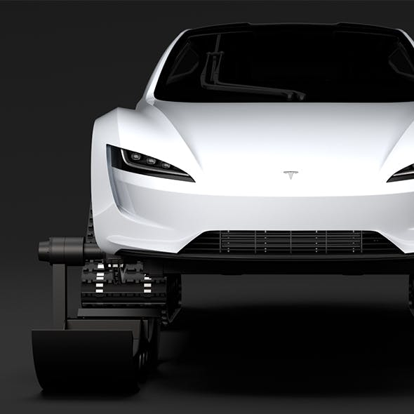 Tesla Roadster Ski 2018 - 3DOcean Item for Sale