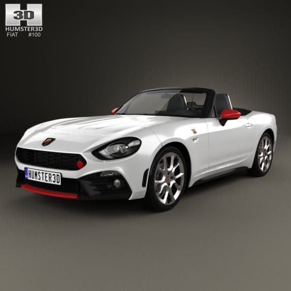 Fiat 124 Spider Abarth 2017 - 3DOcean Item for Sale