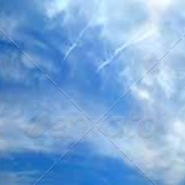 Panoramic 360 degree cloudy sky