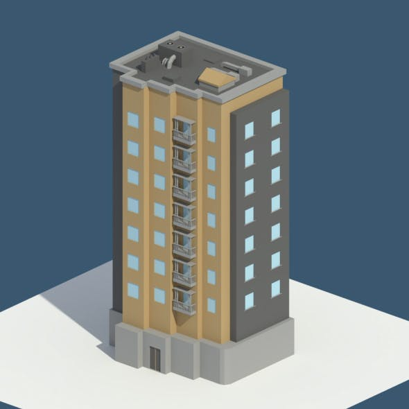 Low Poly Aparment 1 - 3DOcean Item for Sale