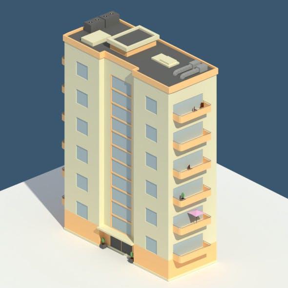 Low Poly Aparment 2 - 3DOcean Item for Sale