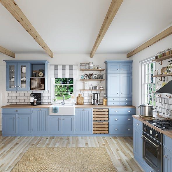 Kitchen interior - Shaker - 3DOcean Item for Sale