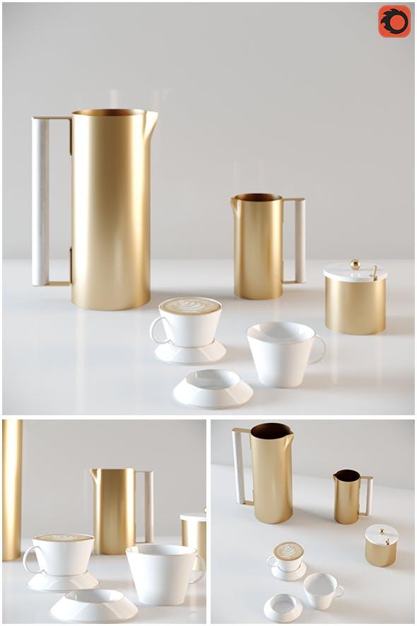 Coffee Set 2018 - 3DOcean Item for Sale