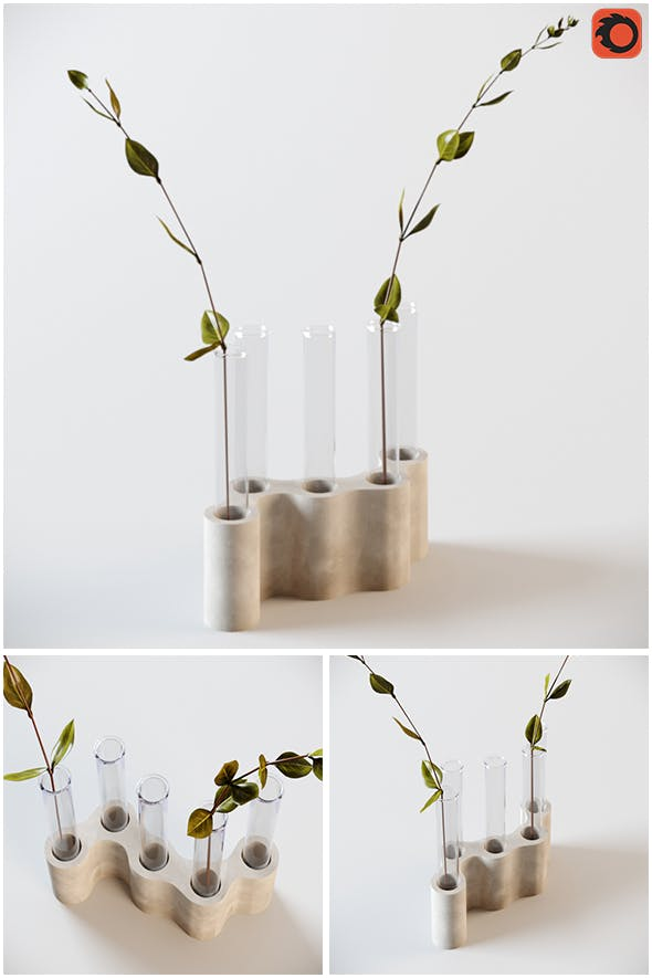 Tubes Vase - 3DOcean Item for Sale