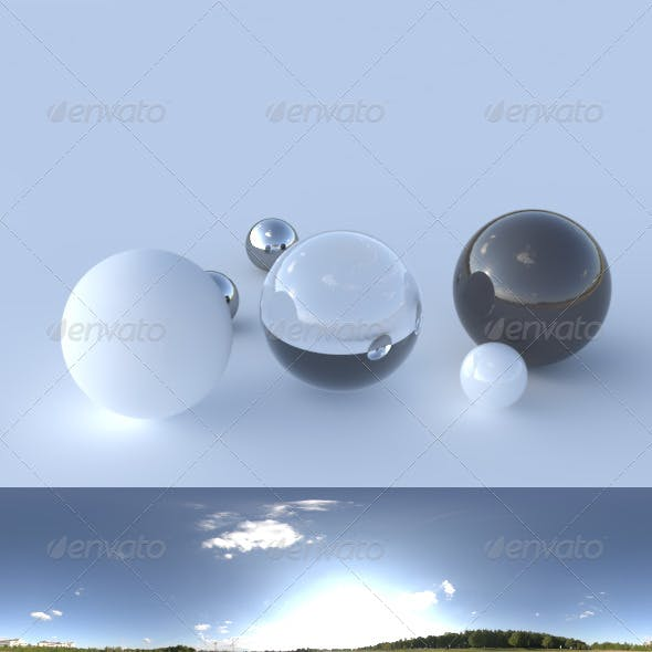 HDRI spherical panorama - 1823- clear sky