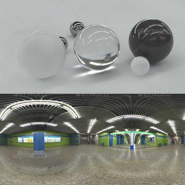 HDRI spherical panorama - subway