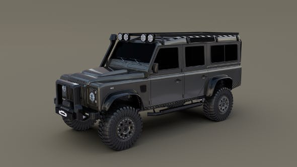 3D Land Rover Defender 110 Custom - 3DOcean Item for Sale