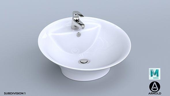 Standalone Bathroom Sink - 3DOcean Item for Sale
