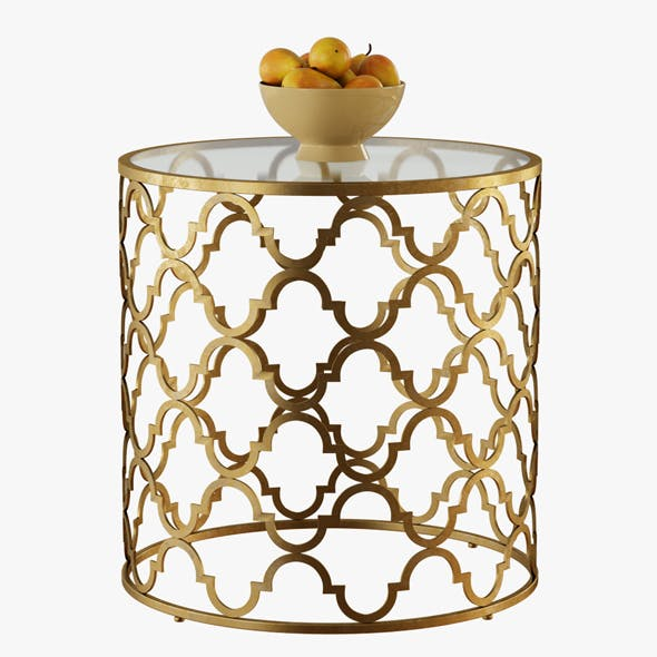 Round Moroccan Side Table - 3DOcean Item for Sale