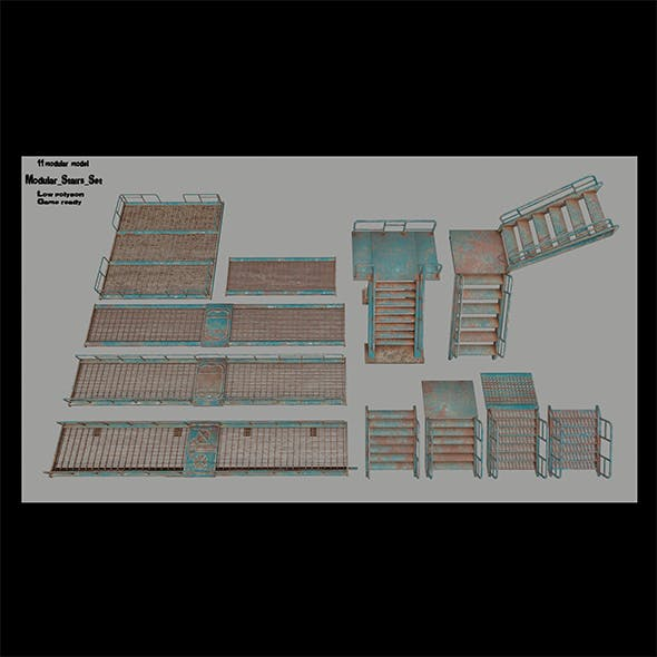 stairs set 2 - 3DOcean Item for Sale