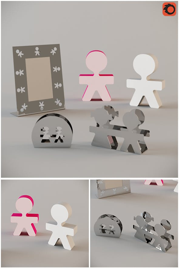 Giro Tondo Set Alessi - 3DOcean Item for Sale