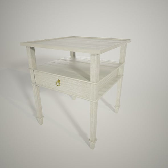 Exclusive design 3D bedside table for interior architecture - 3DOcean Item for Sale