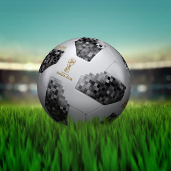 Official Match Ball 2018 - Telstar - HQ 3d Model - 3DOcean Item for Sale