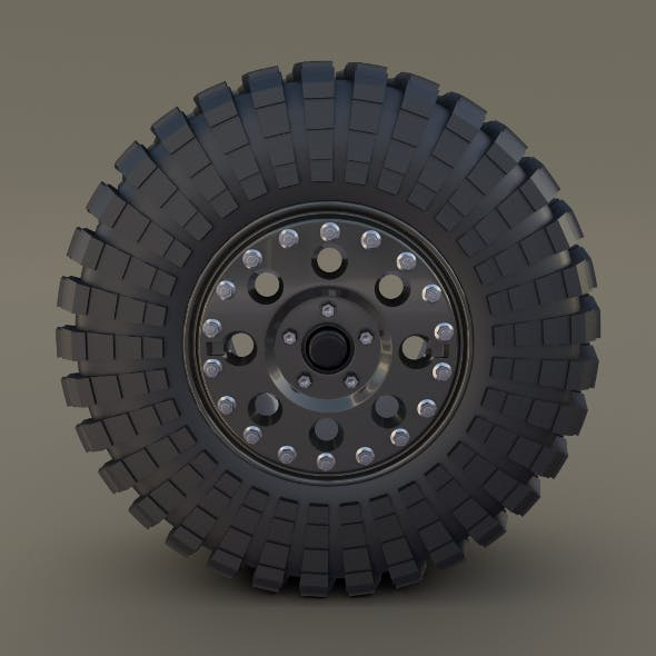 Tibus Offroad Wheel w Maxxis Trepador Tire - 3DOcean Item for Sale