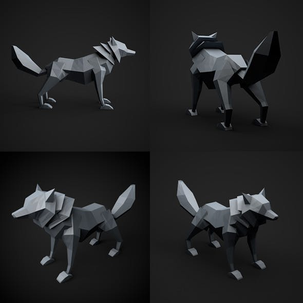 Low Poly Wolf - 3DOcean Item for Sale