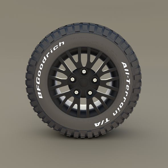 Kahn Wheel BF Goodrich Tire - 3DOcean Item for Sale