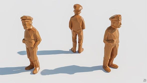 Lowpoly Man 004 - 3DOcean Item for Sale