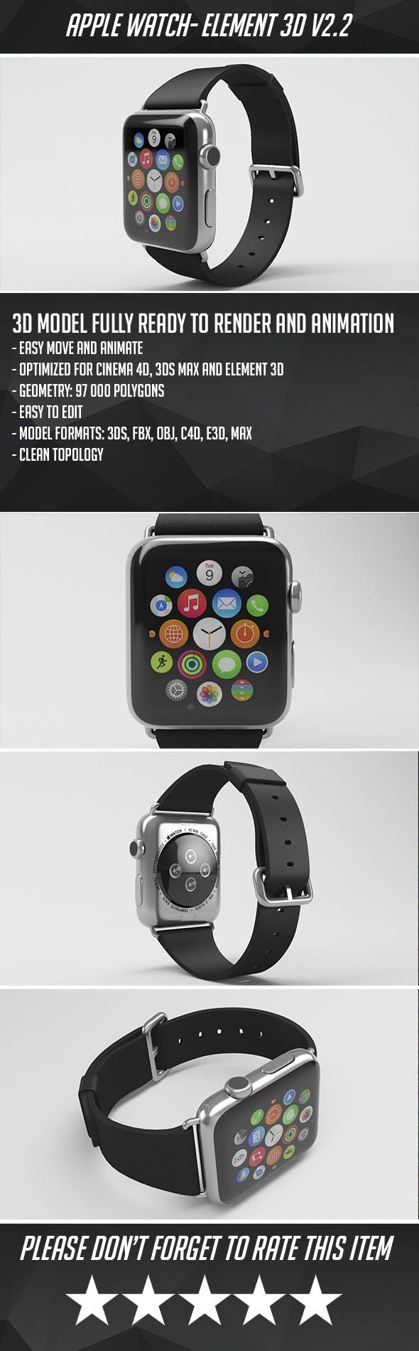 Apple Watch - Element 3D - 3DOcean Item for Sale
