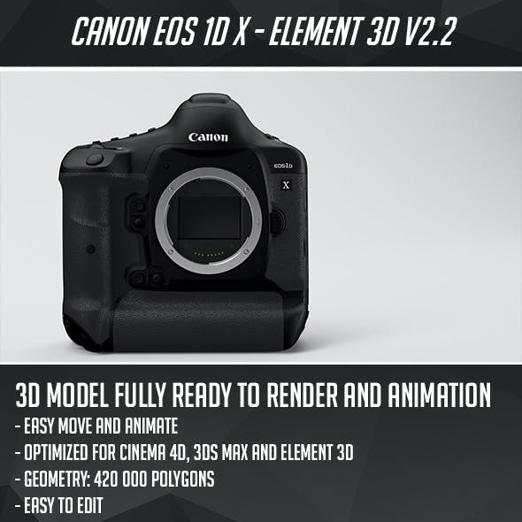Canon EOS-1D X Mark II - Element 3D