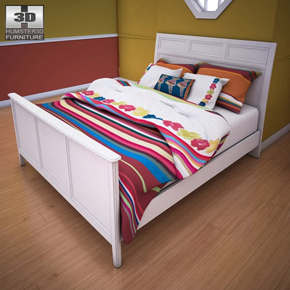Ashley Caspian Panel Bed - 3DOcean Item for Sale