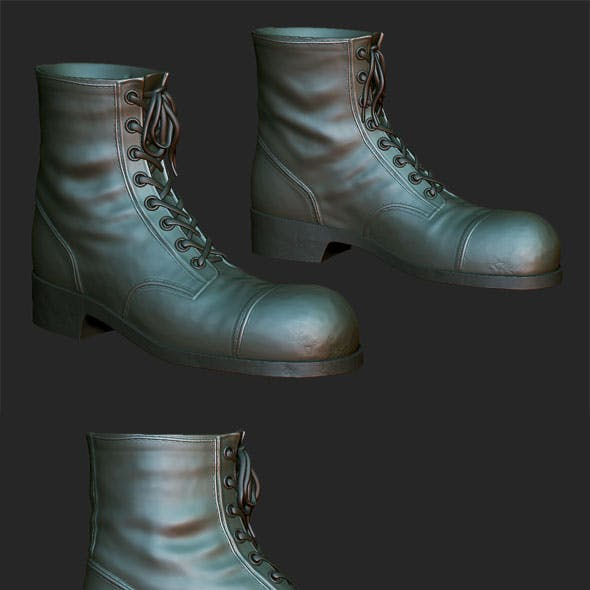 Boots with laces sculpt