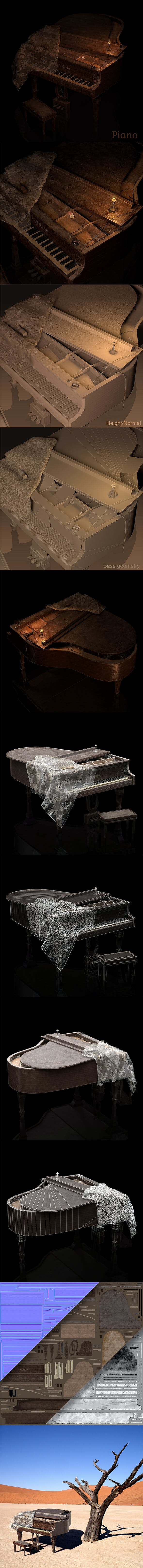 Grand Piano - 3DOcean Item for Sale