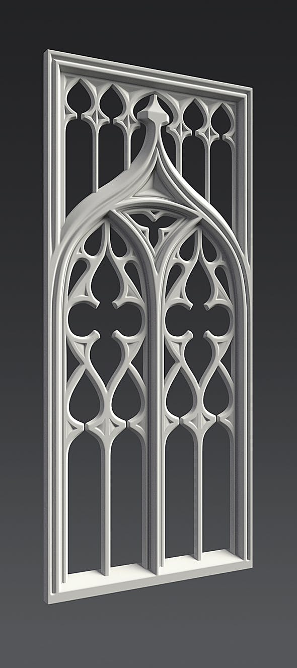 5deed8a17e6 Gothic Ornament 3D model by Shomps