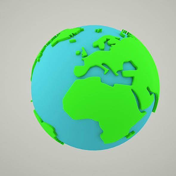 World Globe - 3DOcean Item for Sale