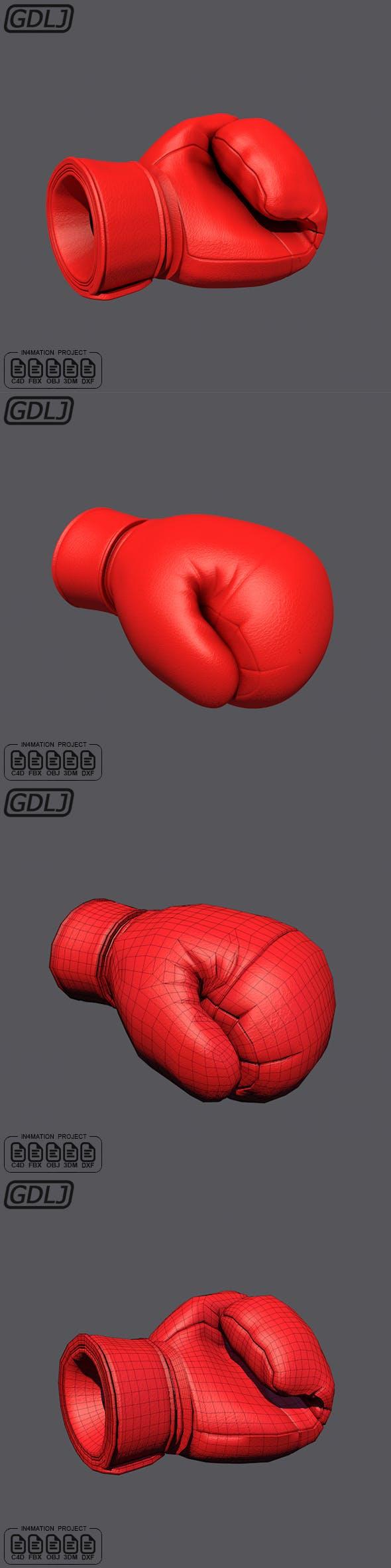 Black Boxing Glove 3D Models - 3DOcean Item for Sale