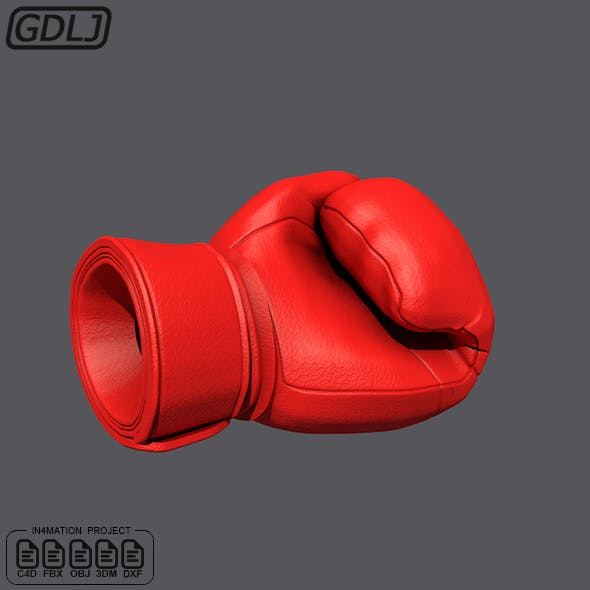 Black Boxing Glove 3D Models