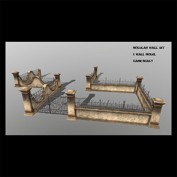 wall set  1 - 3DOcean Item for Sale