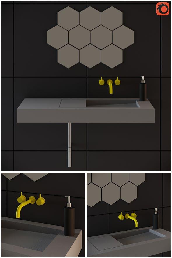 Washbasin Flor Kast - 3DOcean Item for Sale