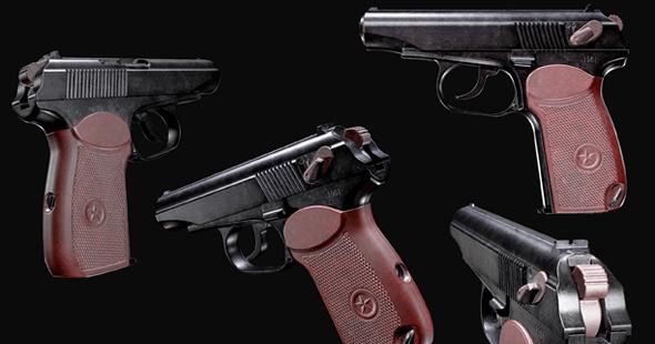 PM - Makarov Pistol HQ - GameModel - 3DOcean Item for Sale