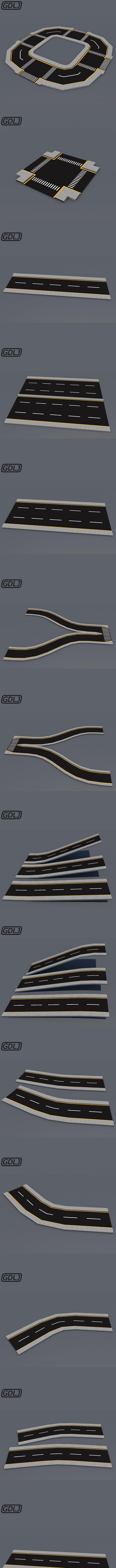 43 Street road - integrated design - 3DOcean Item for Sale