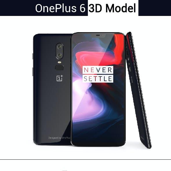 OnePlus 6 3D model