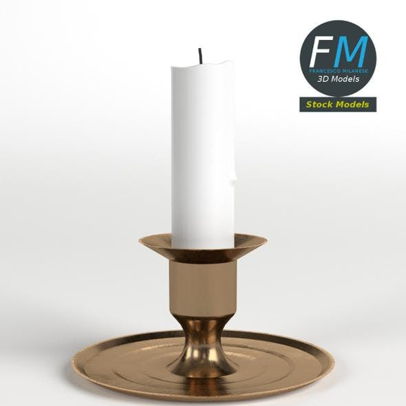 Candle Holder - 3DOcean Item for Sale