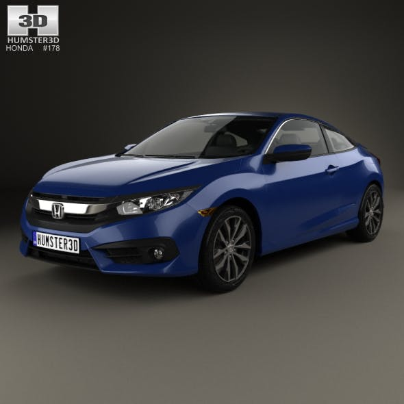 Honda Civic coupe 2016 - 3DOcean Item for Sale