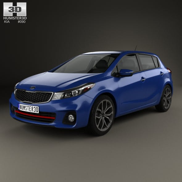Kia Forte 5-door hatchback 2017 - 3DOcean Item for Sale