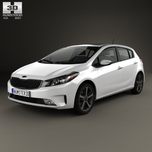 Kia K3 5-door hatchback 2016 - 3DOcean Item for Sale