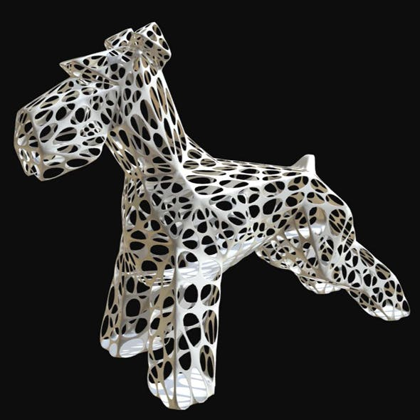 Schnauzer dog figure 2 - 3DOcean Item for Sale